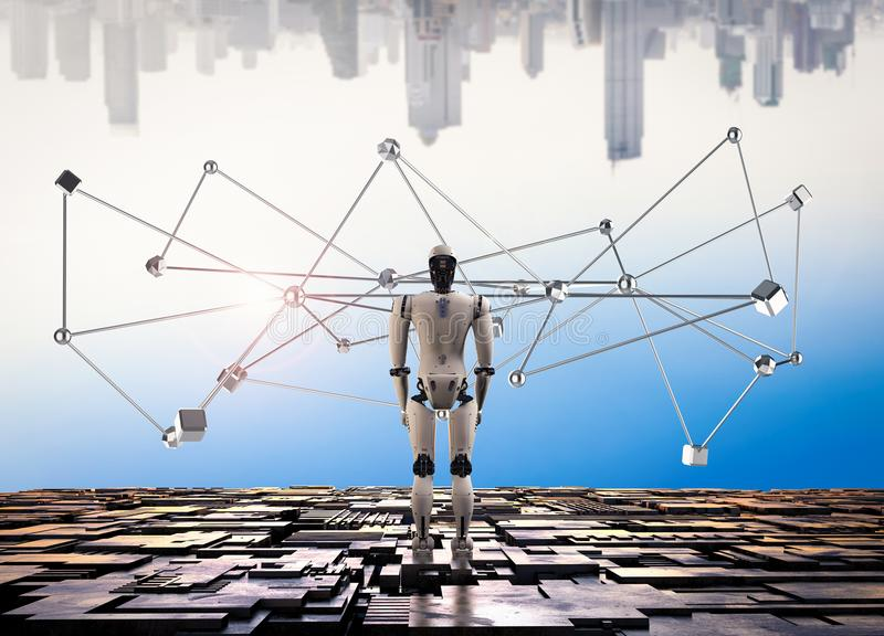 Roboterverbindungsstruktur lizenzfreies stockfoto