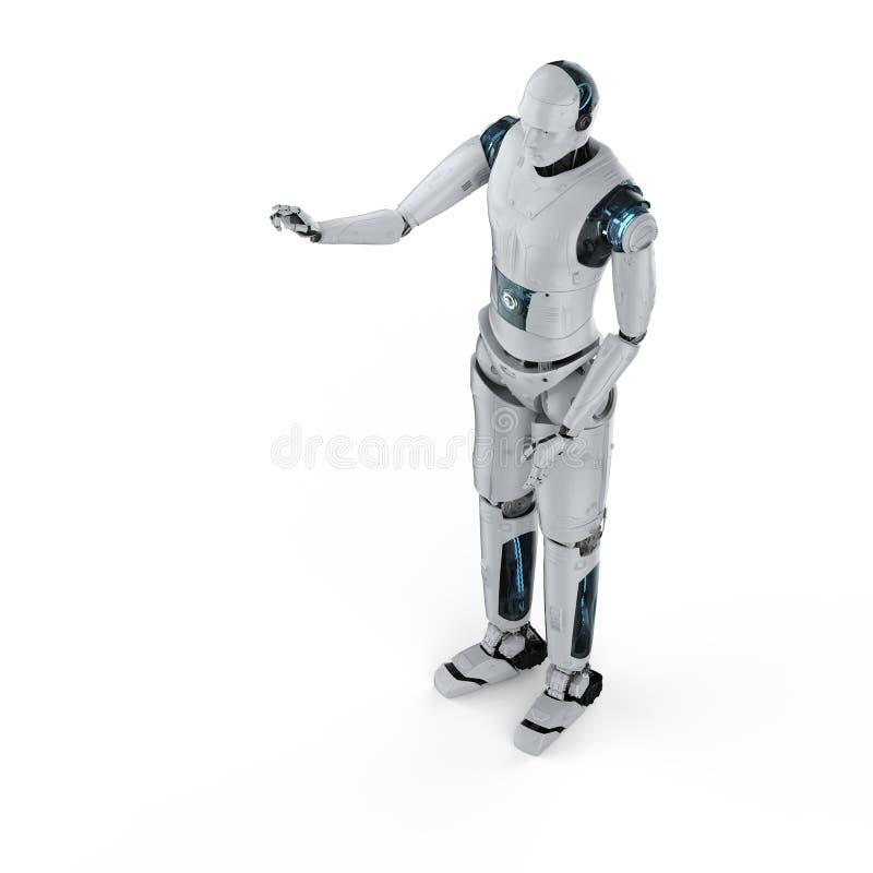 Robotfingerpunkt royaltyfri illustrationer