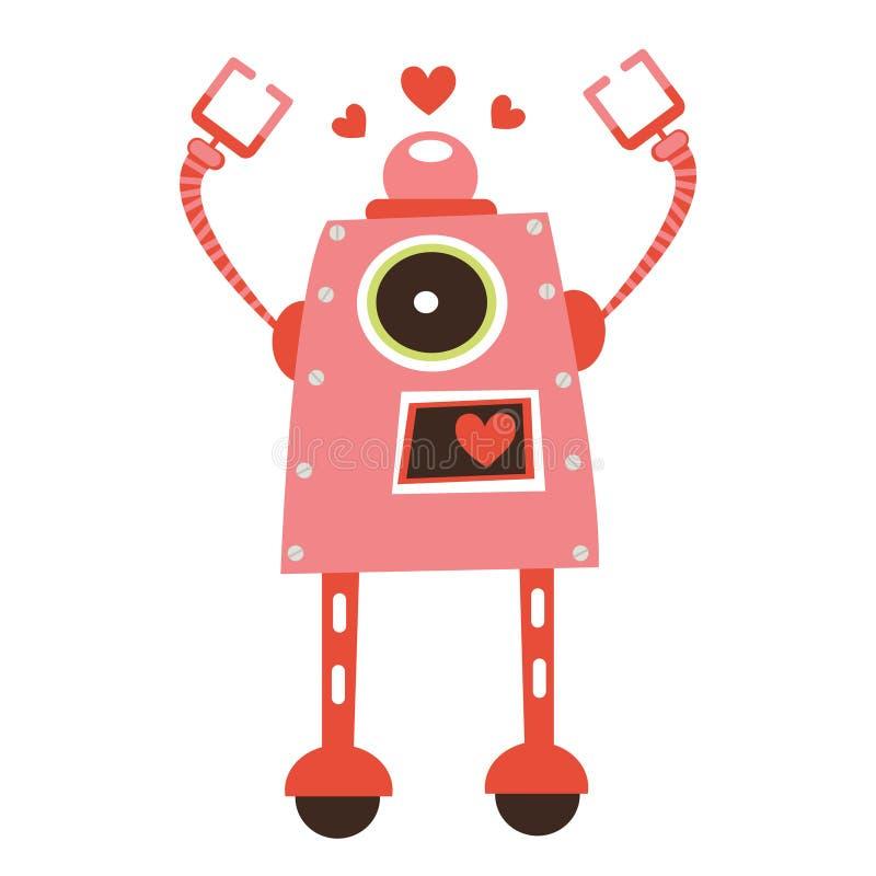 Robotflicka royaltyfri illustrationer