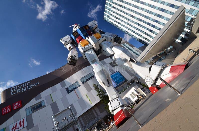 Robotgundum in Odaiba in Japan royalty-vrije stock afbeelding
