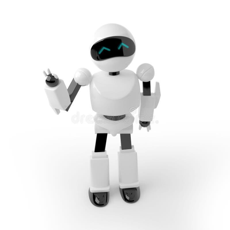 Robothälsningar royaltyfri illustrationer