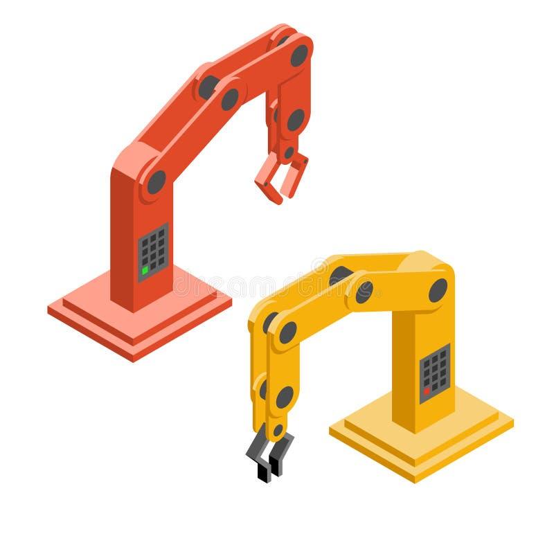 Robothänder Industriella Robotic armar stock illustrationer