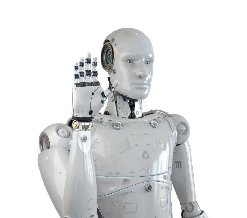 Robothand omhoog stock illustratie