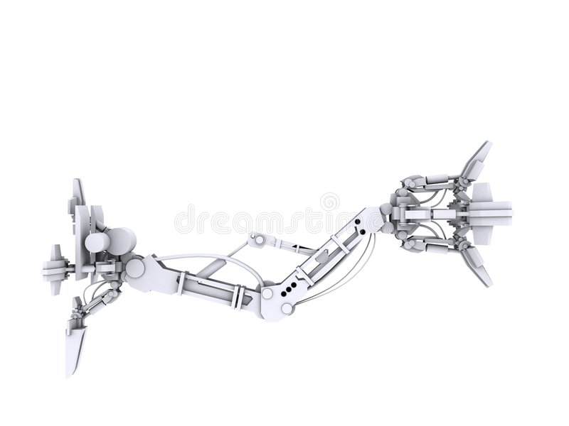 robotic arm royaltyfri illustrationer