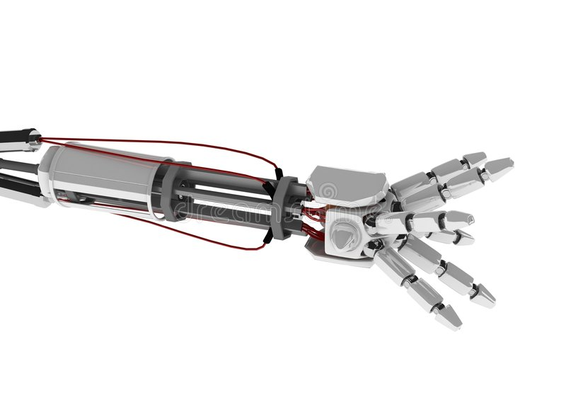 robotic arm royaltyfri illustrationer