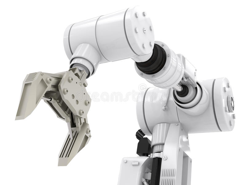 Robotic arm arkivbilder