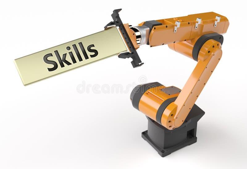Skills metal sign vector illustration