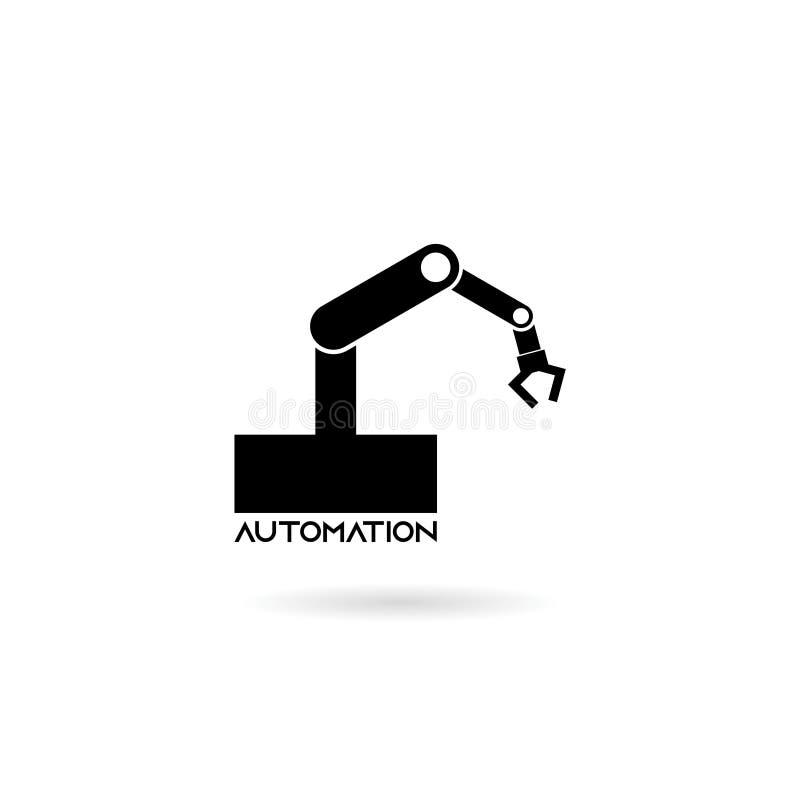 Robotic arm icon isolated on white background, Automation icon royalty free illustration