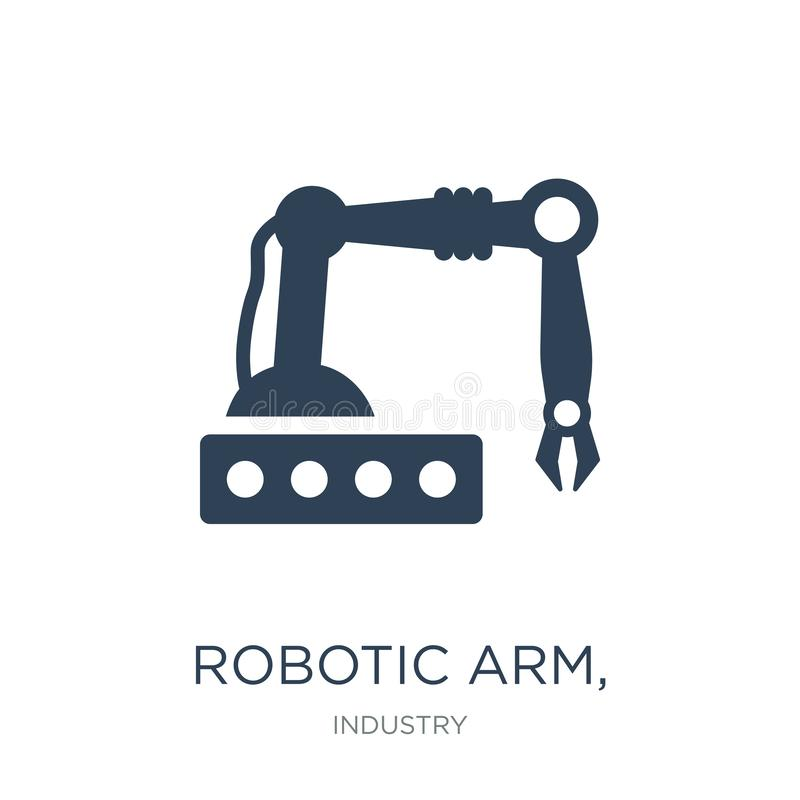 robotic arm, icon in trendy design style. robotic arm, icon isolated on white background. robotic arm, vector icon simple and stock illustration