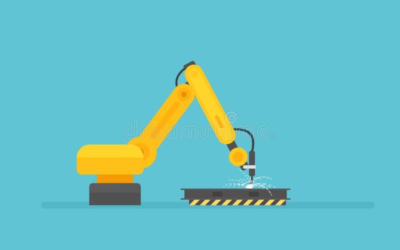 Robotic armsvetsning stock illustrationer
