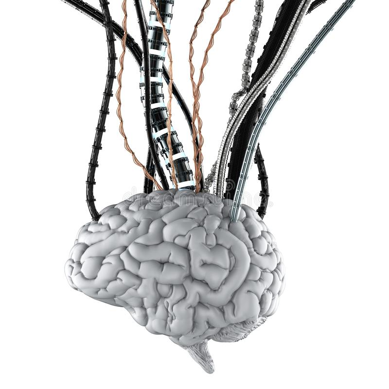 Free Robotic Brain With Wires Stock Photography - 150074882