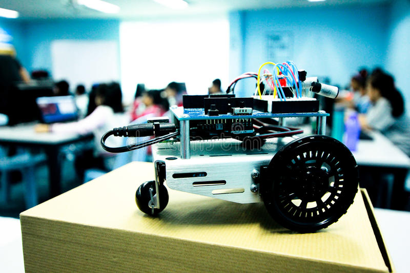 Robotic Class. To build a robot royalty free stock image