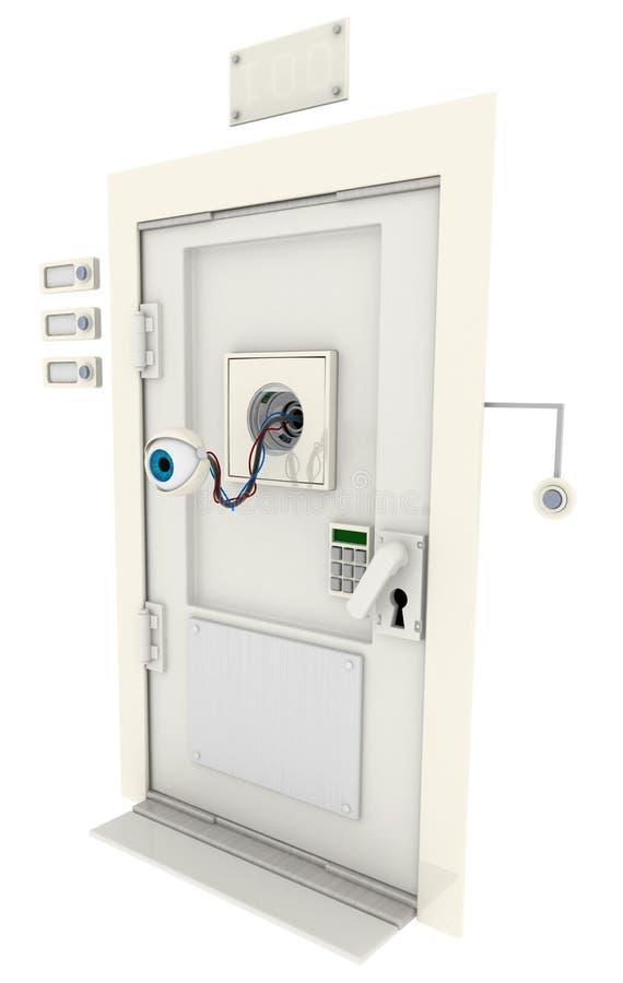 Delightful Download Robotic Eye Door Stock Illustration. Illustration Of Mechanism    74701231
