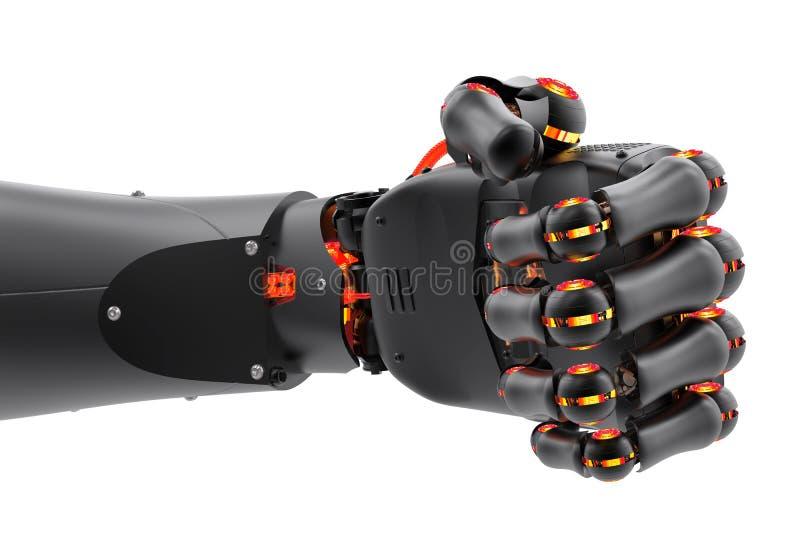 Robotic fist vector illustration