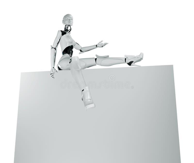 Robotic flicka sexiga presentation 皇族释放例证