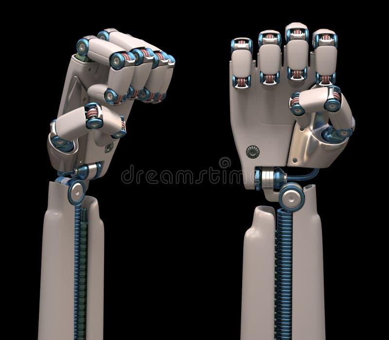 Robotic händer royaltyfri fotografi