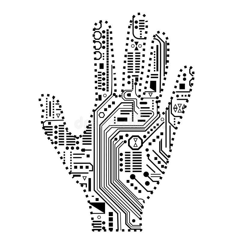 Robotic Hand stock illustration