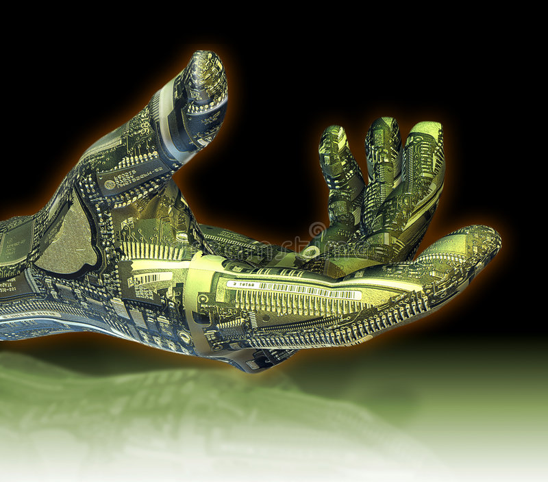 robotic hand stock illustrationer
