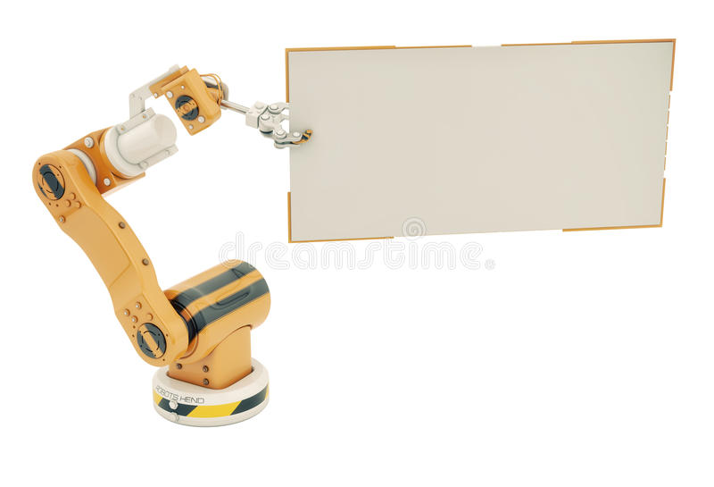 Download Robotic Hand With Empty Board Stock Illustration - Image: 37038301