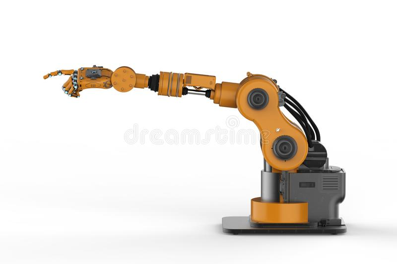 Robotic hand with fingers vector illustration