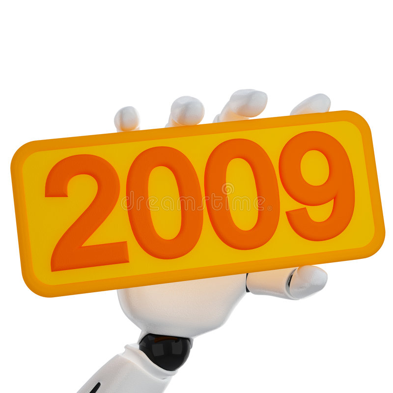 Download Robotic Hand Hold A Plate With 2009 Stock Illustration - Image: 6833522
