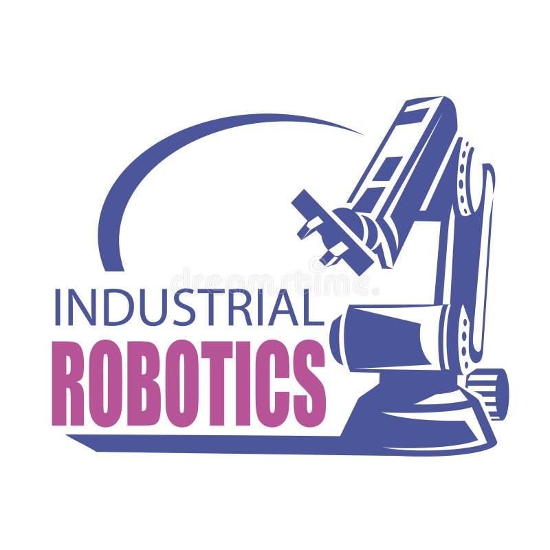 Robotic hand logo template royalty free illustration