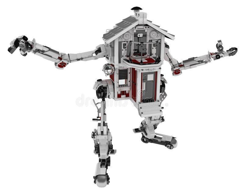robotic hus vektor illustrationer