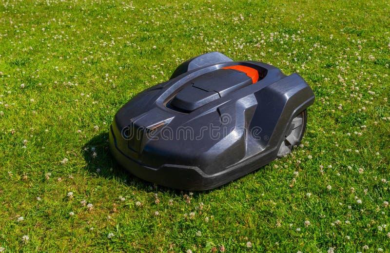 Robotic Lawn Mower stock image