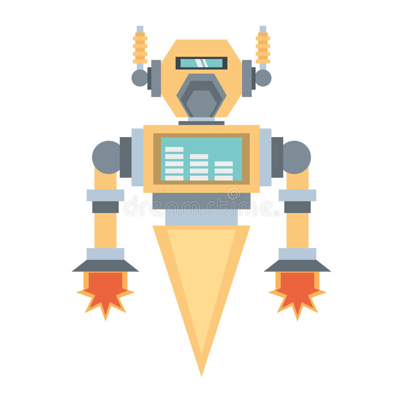 robotic mechanical engineering rocket stock illustration