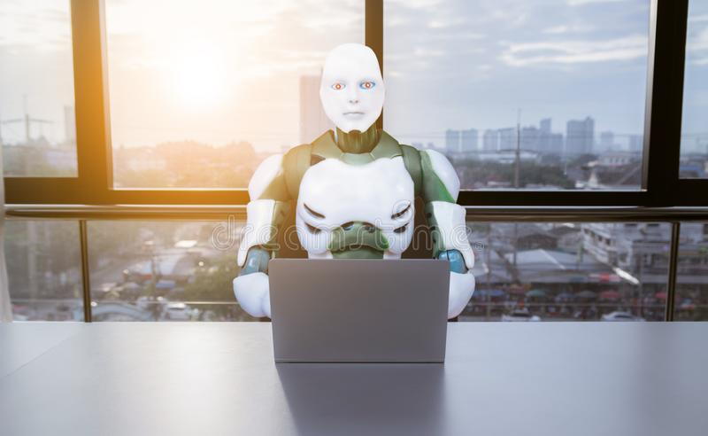 Robotic Process Automation technology RPA working royalty free stock photo