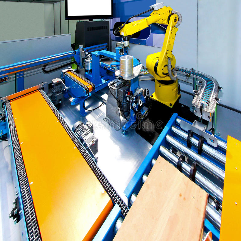 Free Robotic Production Line Stock Image - 15732561