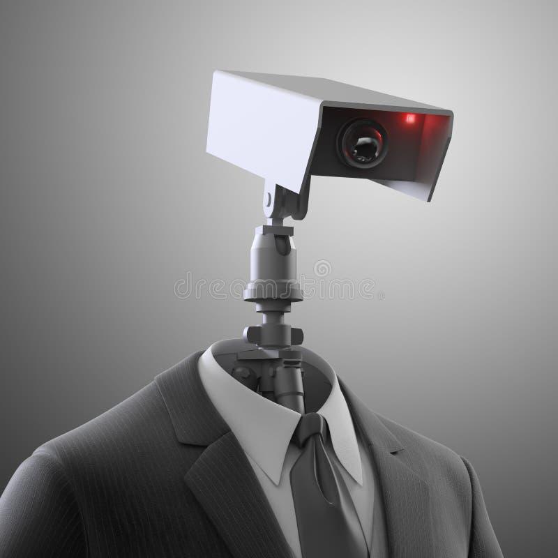 Robotic säkerhetskamera vektor illustrationer