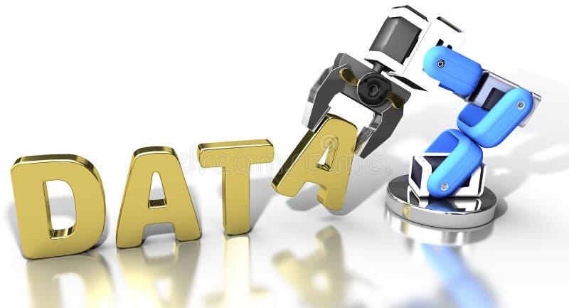 Robotic web data storage technology stock illustration