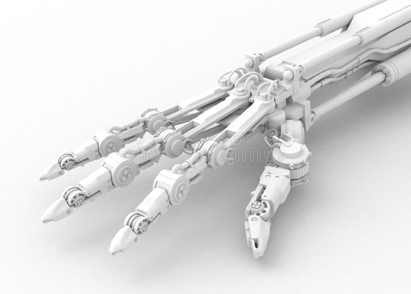 robotic white för hand royaltyfri illustrationer