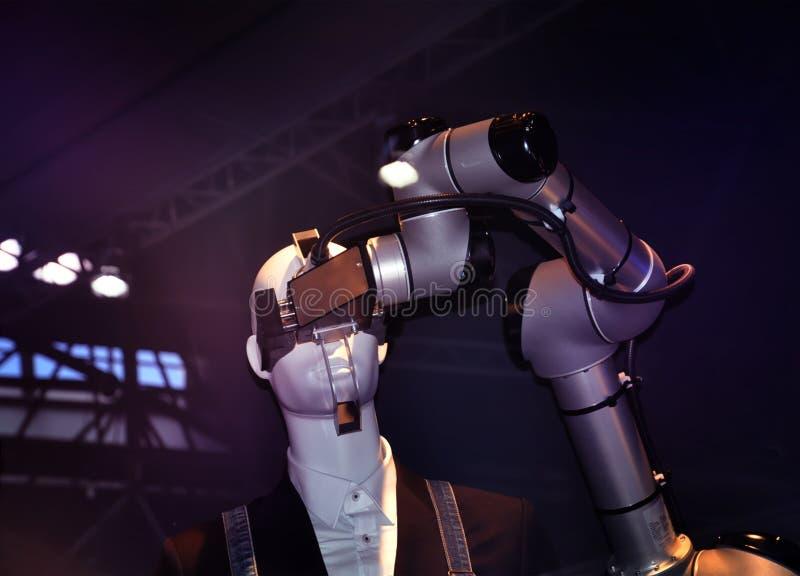 Robotica di automazione industriale immagini stock libere da diritti