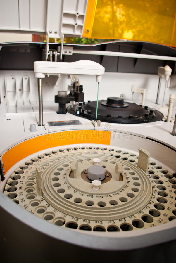 Robotical machine in medical laboratory detail stock photos