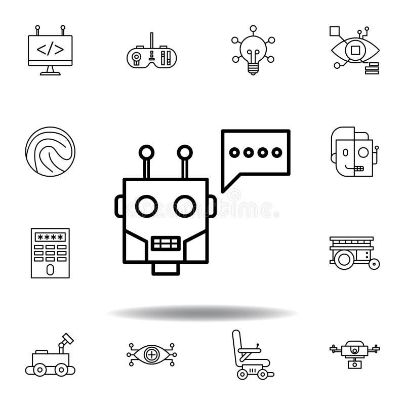 Robotics chatbot outline icon. set of robotics illustration icons. signs, symbols can be used for web, logo, mobile app, UI, UX stock illustration