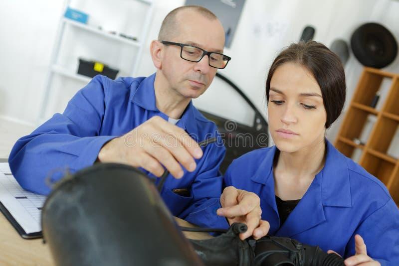 Robotics engineer students teamwork on project. Mechanical stock photos