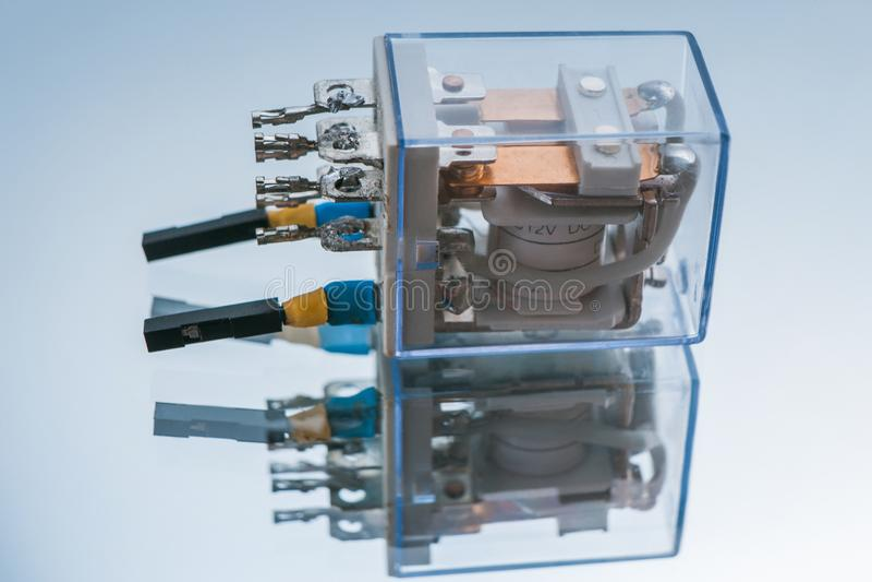 Robotics micromotor radio controlled electronics. Robotics micromotor on white background. component of radio controlled electronics. microelectronic technology stock photos