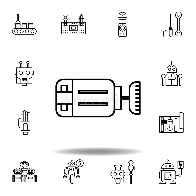Robotics motor outline icon. set of robotics illustration icons. signs, symbols can be used for web, logo, mobile app, UI, UX stock illustration