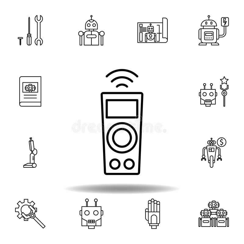 Robotics remote control outline icon. set of robotics illustration icons. signs, symbols can be used for web, logo, mobile app, UI royalty free illustration