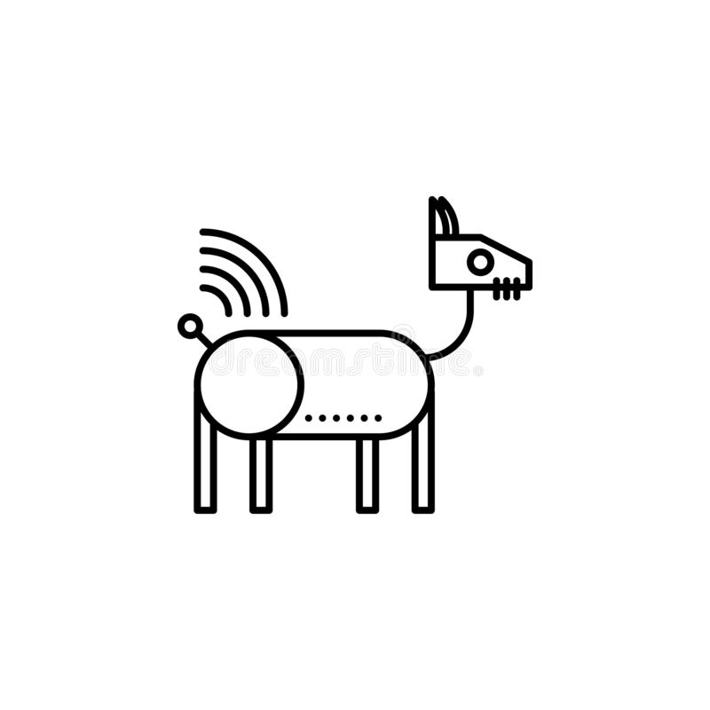 Robotics robot dog animal outline icon. Signs and symbols can be used for web, logo, mobile app, UI, UX. On white background royalty free illustration