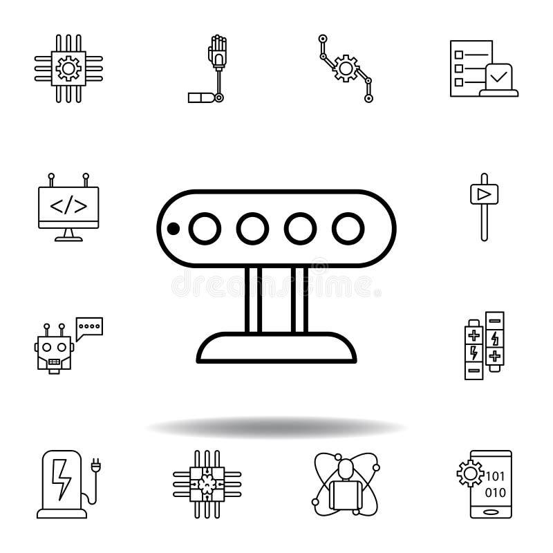 Robotics sensor outline icon. set of robotics illustration icons. signs, symbols can be used for web, logo, mobile app, UI, UX. On white background stock illustration