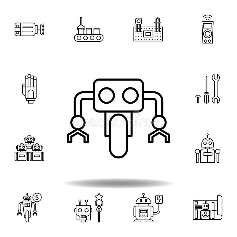 Robotics wheel outline icon. set of robotics illustration icons. signs, symbols can be used for web, logo, mobile app, UI, UX royalty free illustration