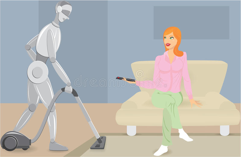 Robotization ilustração royalty free