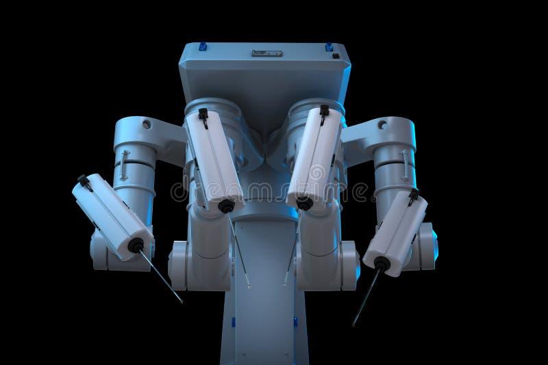 Robotkirurgimaskin stock illustrationer