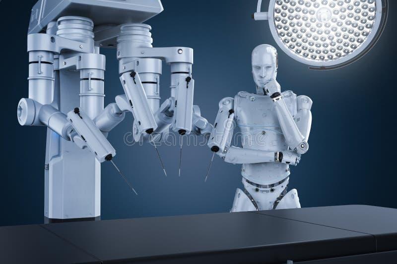 Robotkirurgimaskin vektor illustrationer