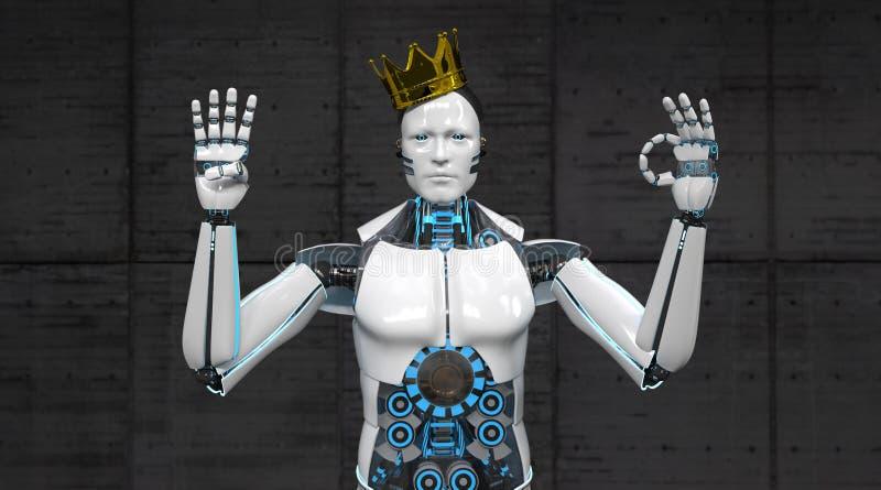 Robotkonung Fingers 40 vektor illustrationer