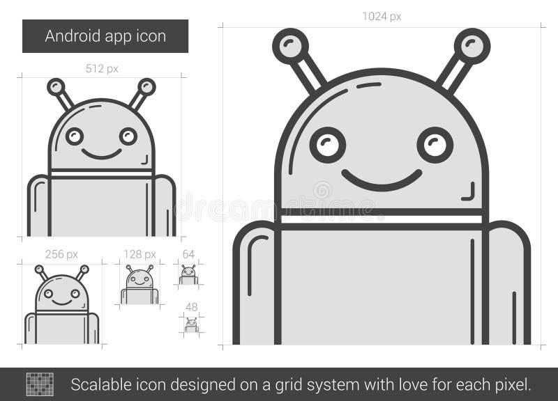 Robotlinje symbol vektor illustrationer