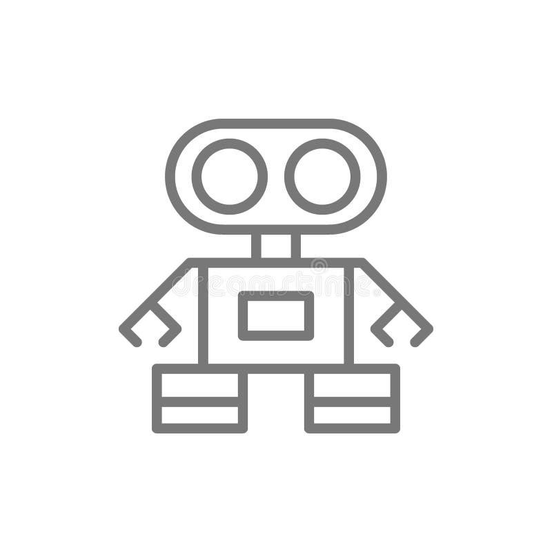Robotlinje symbol royaltyfri illustrationer